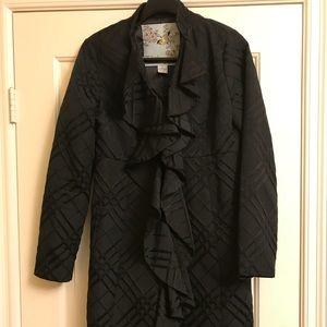 Anthropologie formal black pea coat
